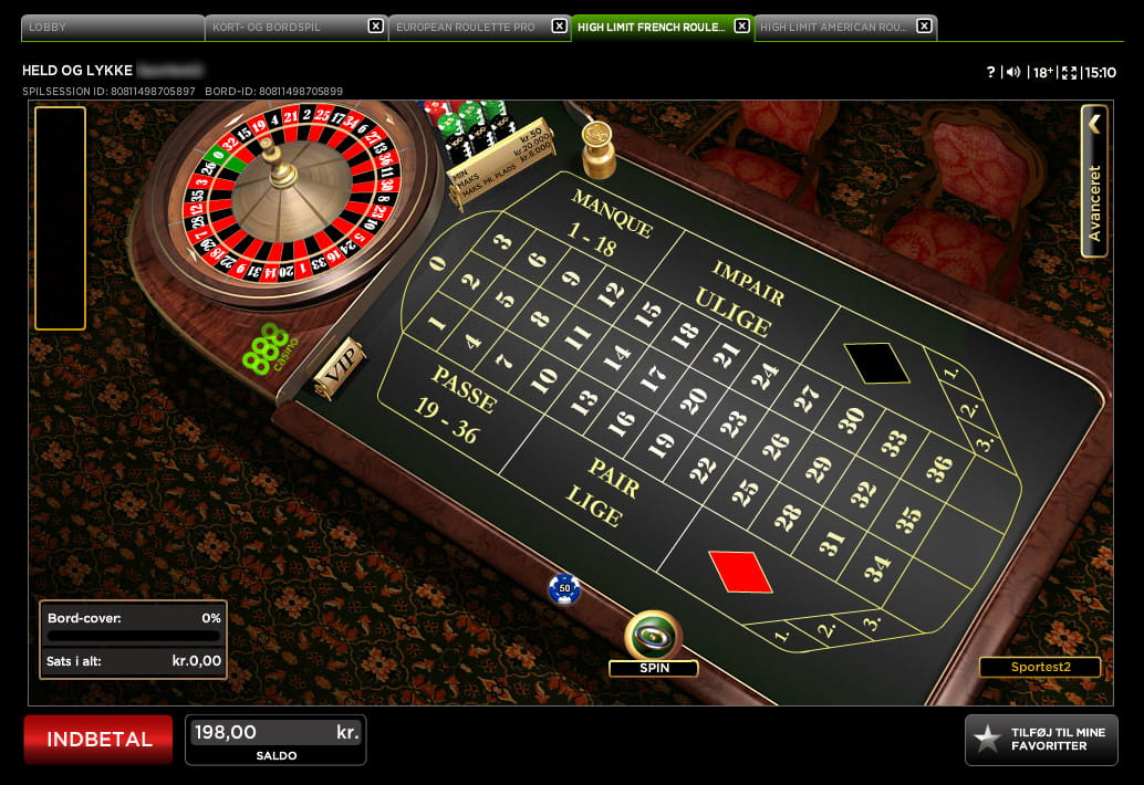 Traditionelle roulette–582117
