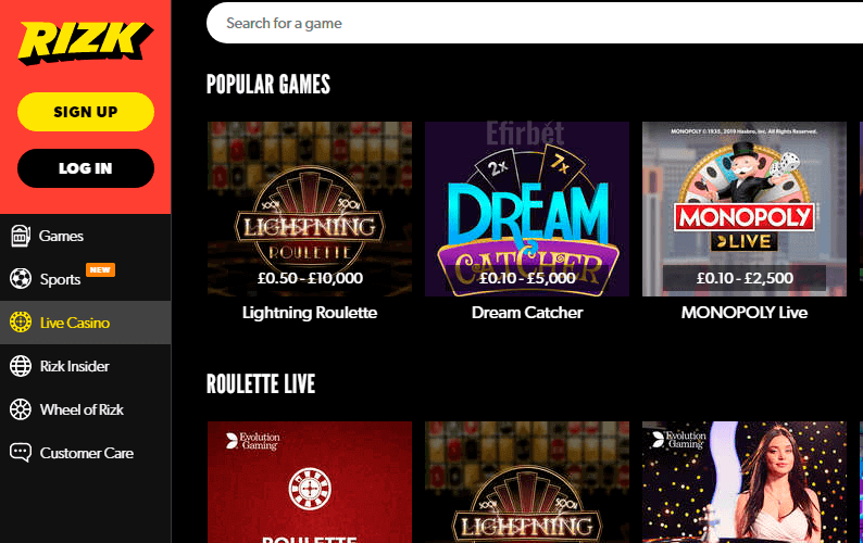 Casinoerspil i støtter